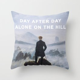 The Wanderer on the Hill Throw Pillow