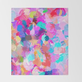 Candy Shop #painting Throw Blanket