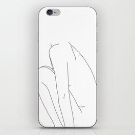 Nude figure line drawing illustration - Dyna iPhone Skin