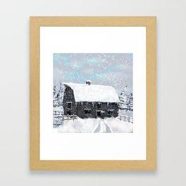 Barn Winter Framed Art Print