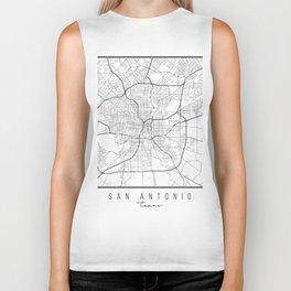 San Antonio Texas Street Map Biker Tank