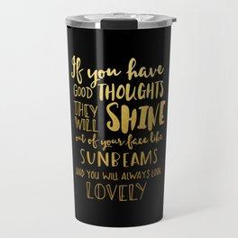 Good thoughts - black and gold Travel Mug