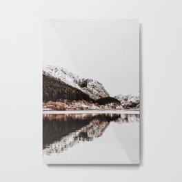 LAKE - OCEAN - BAY - SNOW - MOUNTAINS - HILLS - PHOTOGRAPHY Metal Print