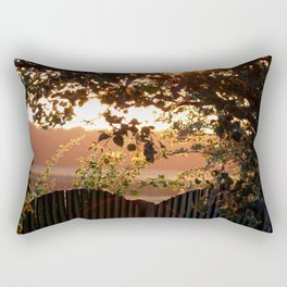 Sunset Through The Trees Rectangular Pillow