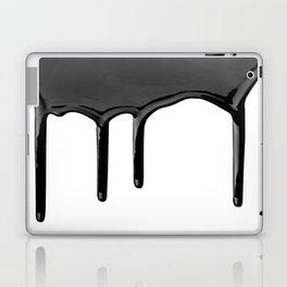 Black paint drip Laptop & iPad Skin