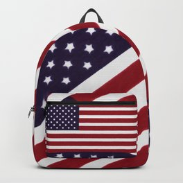 American flag with painterly treatment Backpack
