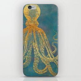 Deep Sea Life Octopus iPhone Skin