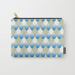 Squama Fhish Blue Pattern Carry-All Pouch