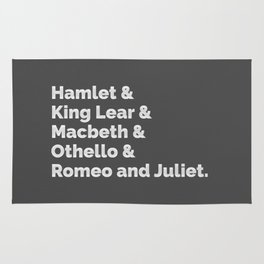 The Shakespeare Plays I Rug