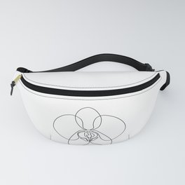 One-Line Orchid Fanny Pack
