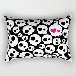 A skull in love Rectangular Pillow