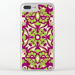 Laughing Faces_Purple Beach Clear iPhone Case