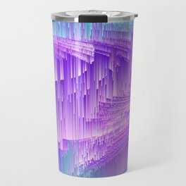 Flame - Pixel sort purple Travel Mug