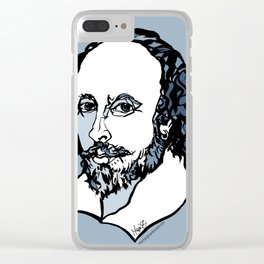 William Shakespeare The Bard by Arty Mar Clear iPhone Case