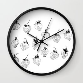 strawberries forever Wall Clock