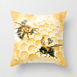 Just Like Honey Throw Pillow
