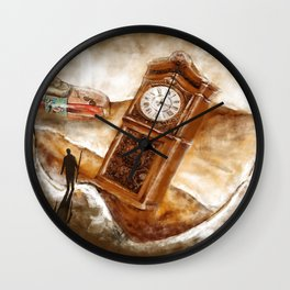 The Time Traveler | Conceptual Environmental Landscape Wall Clock
