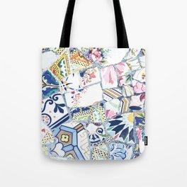 Gaudi Park Guell Mosaic Tote Bag