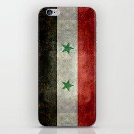 Syrian national flag, vintage iPhone Skin