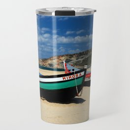 Colorful fishingboats Travel Mug