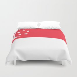 Flag of Singapore Duvet Cover