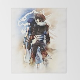 Squall and Rinoa - Griever Throw Blanket