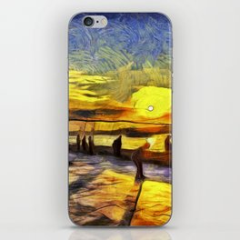 Sunset Fishing Istanbul Van Gogh iPhone Skin