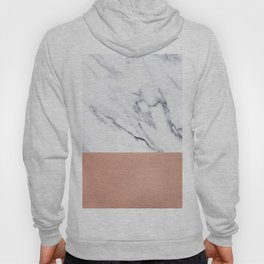 Marble Rose Gold Luxury iPhone Case and Throw Pillow Design Hoody