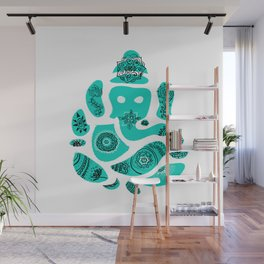 Ganesha Drawing with Mandala Elements Wall Mural