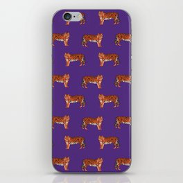Tigers orange and purple clemson football fan varsity university college athletics iPhone Skin