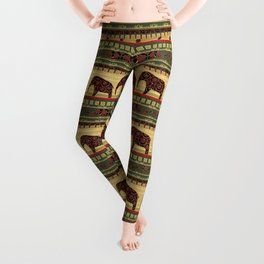 African motifs. Leggings