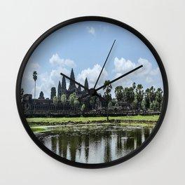 Angkor Wat at High Noon, Cambodia Wall Clock