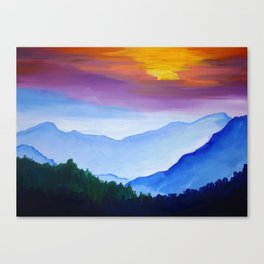 Smokey Mountain Sunset Canvas Print