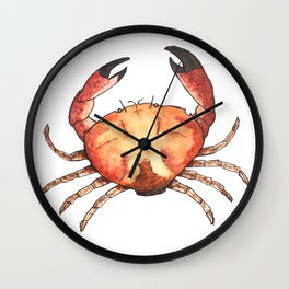 Crab: Fish of Portugal Wall Clock