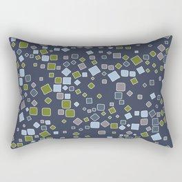 Rectangles scattered on midnight blue Rectangular Pillow