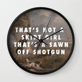Suck it and Shoot Wall Clock