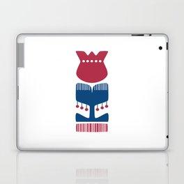 Nordic Red Flower Laptop & iPad Skin