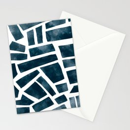 abtract indigo tile pattern Stationery Cards