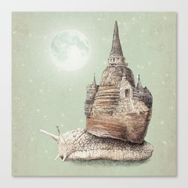 The Snail's Dream Canvas Print