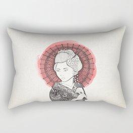 Japanese flag and Geisha Rectangular Pillow