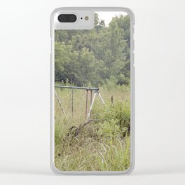 Abandoned Playground Clear iPhone Case