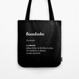 Floordrobe black and white typography poster gift for her girlfriend home wall decor bedroom Tote Bag