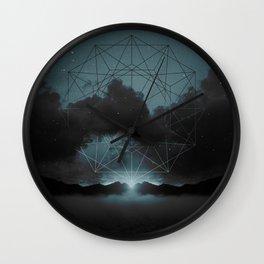 Beyond the Fog Lies Clarity | Midnight Wall Clock
