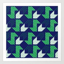Clover&Nessie Denim/Spinach Art Print