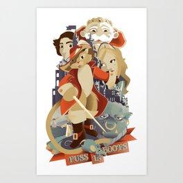 Puss in Boots Art Print Poster Design Art Print