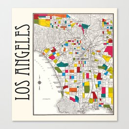 Los Angeles Streets Canvas Print