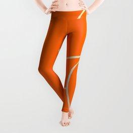 Lined - Orange Leggings