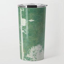 Spring Cyanatope Print Travel Mug