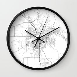 Minimal City Maps - Map Of Santa Rosa, California, United States Wall Clock