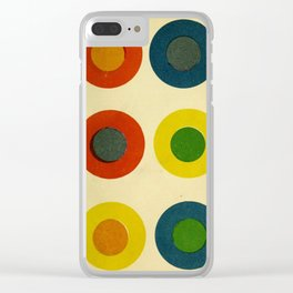 Contrast Circles Clear iPhone Case